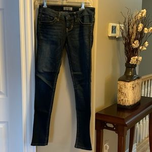 Mid to low rise guess jeans